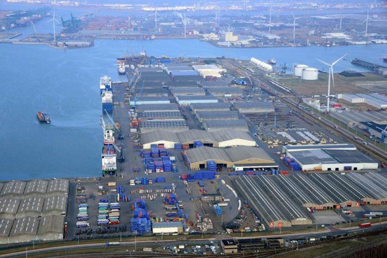 Break-bulk Terminal Antwerp, Belgium, Western-Europe